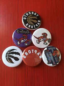 "1.25"" Toronto Raptors pin back button set of 6 NBA Basketbal"