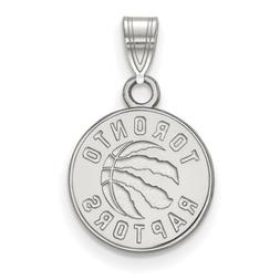 10k White Gold NBA LogoArt Toronto Raptors Small Pendant 1W0