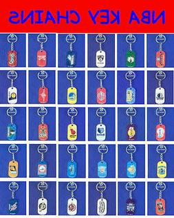 2 NEW NBA OFFICIALLY LICENSED BASKETBALL METAL KEY CHAINS ZI