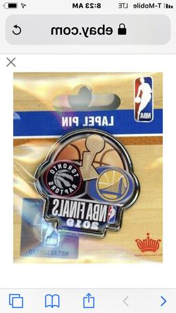 2019 NBA FINALS 2 TEAM AMINCO Pin GOLDEN STATE TORONTO RAPTO