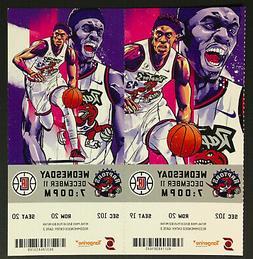 2019 NBA Toronto Raptors Ticket x2 Kawhi Leonard Ring Presen