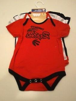 infant toronto raptors red black white three