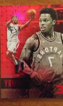 KYLE LOWRY TORONTO RAPTORS 2017-18 PANINI ESSENTIALS RED VAR