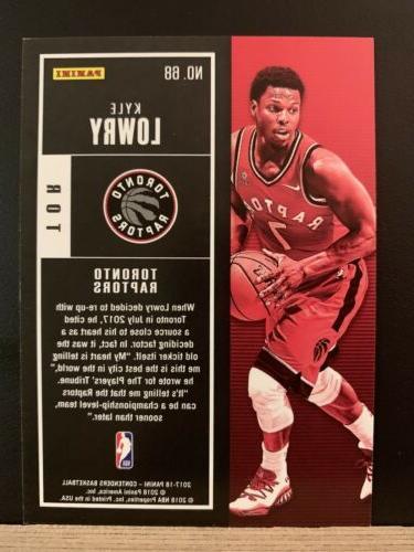 2017-18 Contenders Basketball Kyle Lowry Toronto