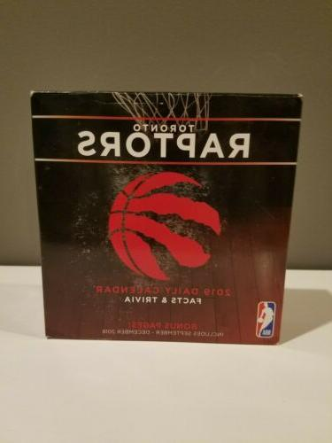2019 nba toronto raptors basketball desk calendar