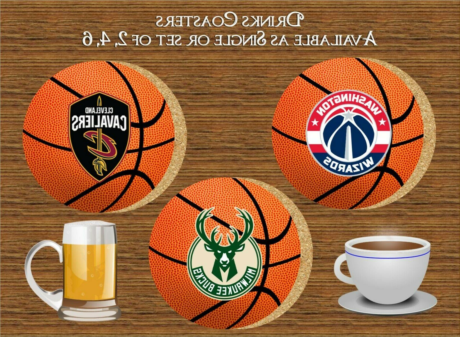 basketball teams drinks coaster ideal gift