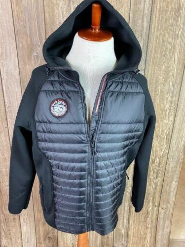 levelwear black toronto raptors hooded zip up