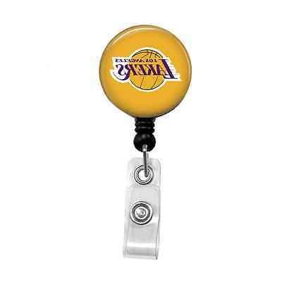 nba basketball pick your team retractable badge