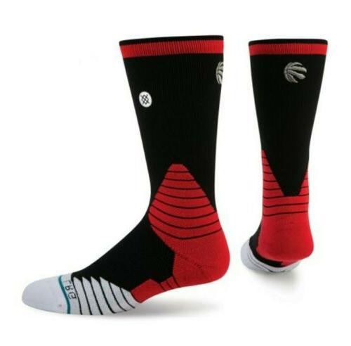 nba toronto raptors logo crew basketball socks