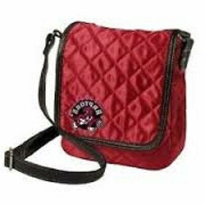 nba toronto raptors quilted purse classic red