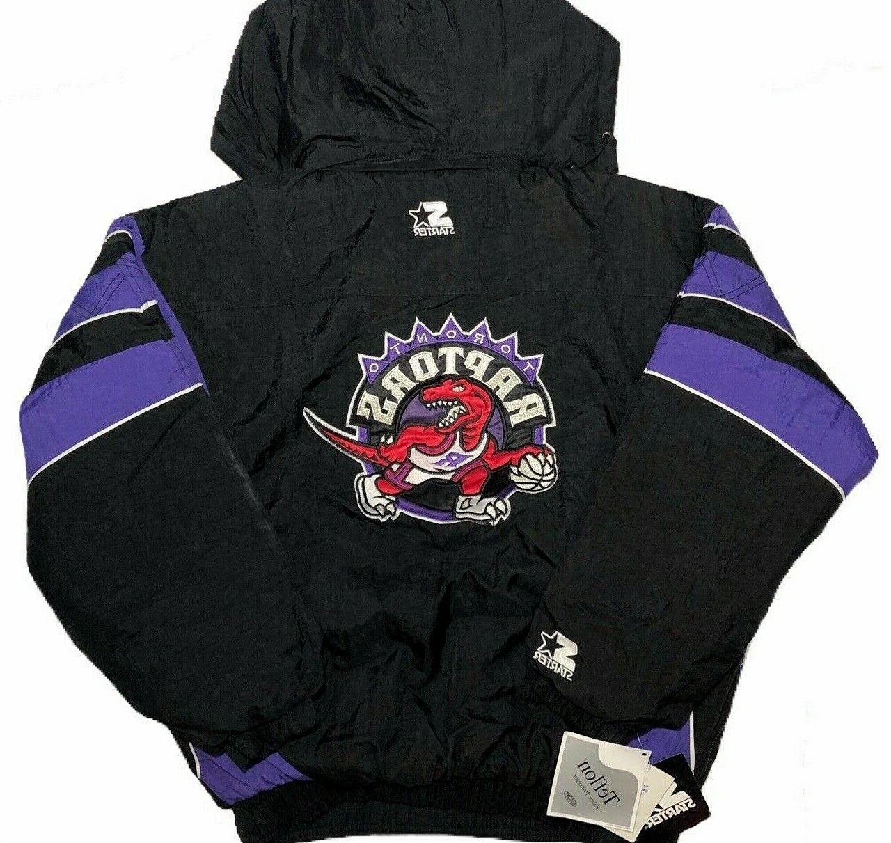 nba vintage toronto raptors pullover jacket size
