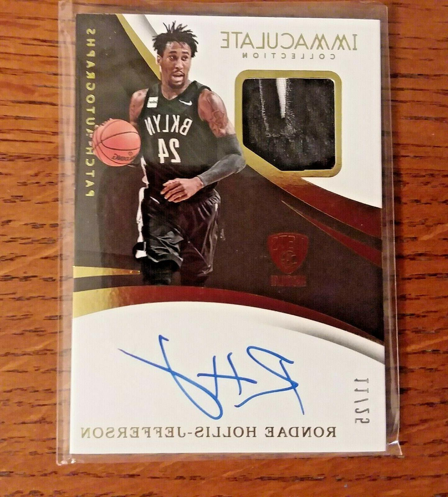 rondae hollis jefferson patch autograph 25 immaculate