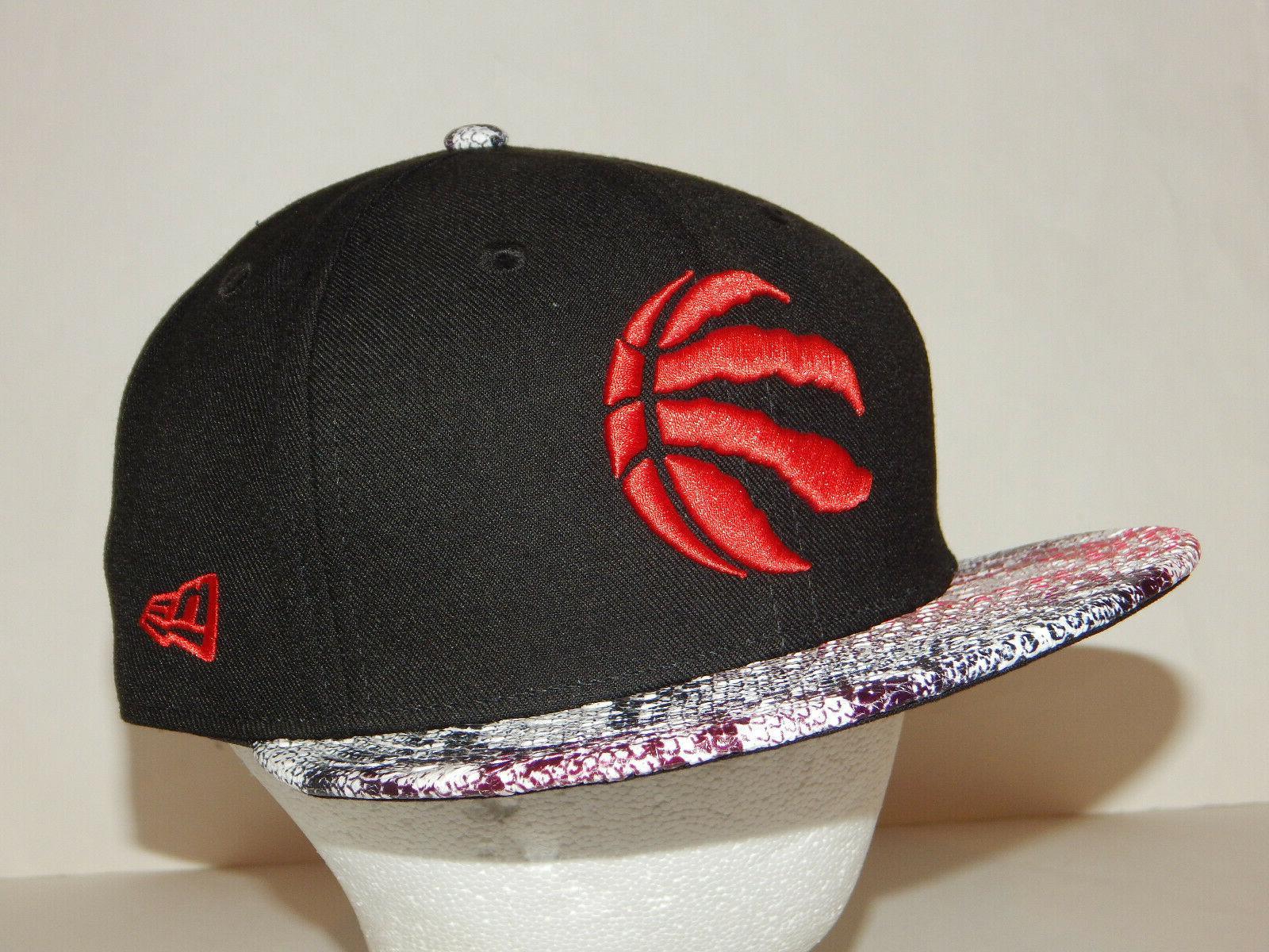 toronto raptors 9fifty hat cap flatbill black