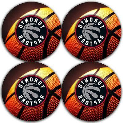toronto raptors basketball rubber round coaster set