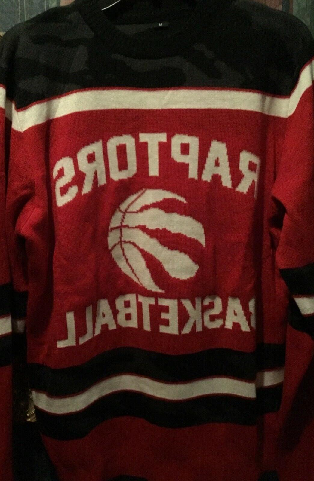 toronto raptors basketball sweater m officially licensed