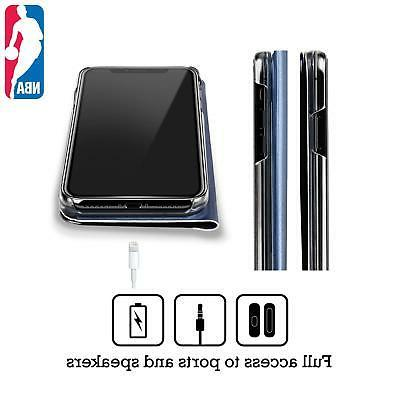 NBA RAPTORS 3 BLUE MIRROR FLIP STAND CASE iPHONE