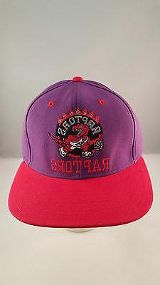 toronto raptors light purple red flat visor