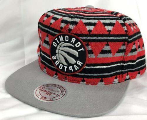 Toronto NBA Adult Mitchell Mixtec Snapback - Brim