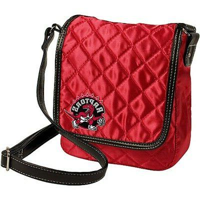 toronto raptors nba licensed red quilted purse