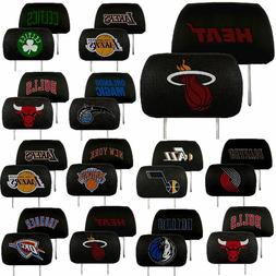 NBA Teams -  2-Pack Auto Car Truck Embroidered Headrest Cove