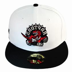 New Era NBA Toronto Raptors 5950 White Fitted Hat Hardwood C