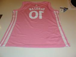 NBA Toronto Raptors DeMar DeRozan Pink Jersey Youth XL Girls