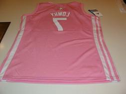 NBA Toronto Raptors Kyle Lowry Pink Jersey Youth Medium Girl