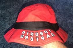 NBA Toronto Raptors Adidas Men's Red/Black Bucket Hat Size