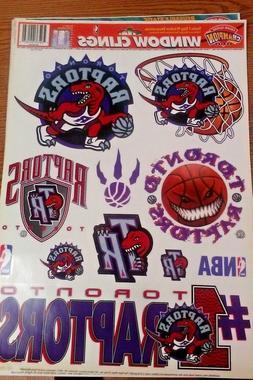 "NBA TORONTO RAPTORS  WINDOW CLINGS 17""X12"" SHEET NEW"