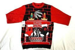 NWT NBA Men's Red Toronto Raptors Fireplace Stockings Ugly C