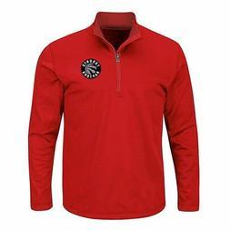 NWT NBA APPAREL Red Toronto Raptors Birdseye 1/4 Zip Poly Sh