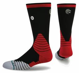 NWT Stance Toronto Raptors Mens 559 Fusion Logo Crew Socks B