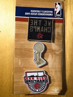 "Official Licensed NBA Toronto Raptors ""We The Champs"" Embroi"