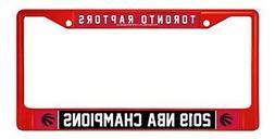 Toronto Raptors 2019 Champions RED Metal Chrome Frame Licens