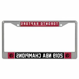 Toronto Raptors 2019 NBA Champions License Plate Metal Frame