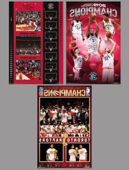 TORONTO RAPTORS 2019 NBA CHAMPIONS! Official 3-Poster Commem