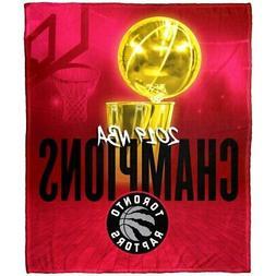 Toronto Raptors 2019 NBA Finals Champions Silk Throw Blanket
