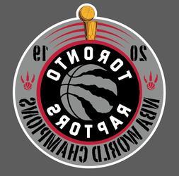 Toronto Raptors 2019 NBA World Champions Vinyl Car Laptop De