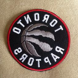 "🏀 TORONTO RAPTORS 3"" Round NBA Basketball Team Logo Iron-"