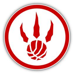 Toronto Raptors Basketball Paw Logo Car Bumper Sticker Decal