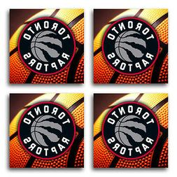 Toronto Raptors Basketball Rubber Square Coaster set  SRC205