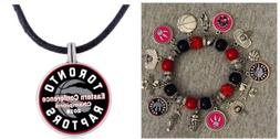 toronto raptors Bracelet And Necklace Set