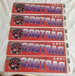 "Toronto Raptors Bumper Sticker Lot  Wincraft 12"" x 3"""