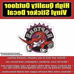 Toronto Raptors Dino Basketball Vinyl Bumper Car Window Stic