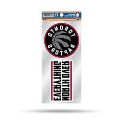 Toronto Raptors Double UP 2-Pack Decal Sheet Sticker Auto Ho