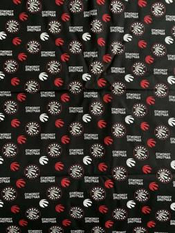 Toronto Raptors Fabric 1/4 Yard X 44inches Cotton