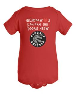 Toronto Raptors Love Watching With Daddy Baby Short Sleeve B
