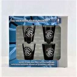 Toronto Raptors NBA 4pc Hunter 2oz collector shot glass set