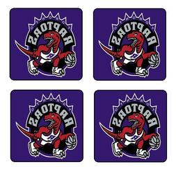 toronto raptors nba coaster and holder set