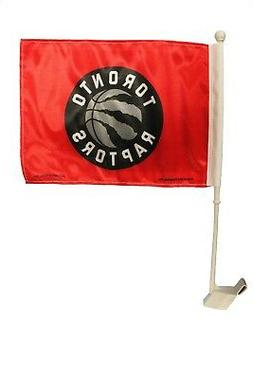 "TORONTO RAPTORS NBA Logo 12"" X 18"" Inch 2 - Sided CAR STICK"
